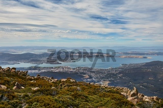Hobart from above