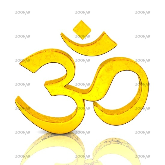 3D - Magic golden OM sign