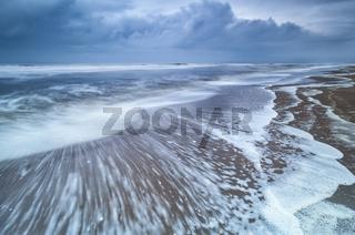 stormy morning on North sea coast
