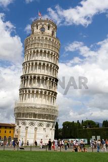 Tower of Pisa and tourists around