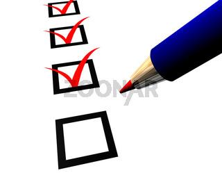 Pen and Questionnaire