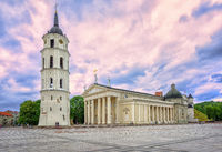 Cathedral Basilica in the old town of Vilnius, Lithuania