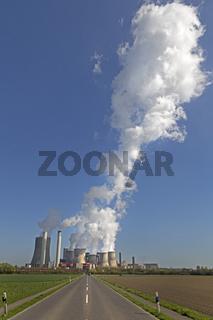 RWE Braunkohlekraftwerk, Niederaußem, Bergheim, Rheinland, Nordrhein-Westfalen, Deutschland, Europa