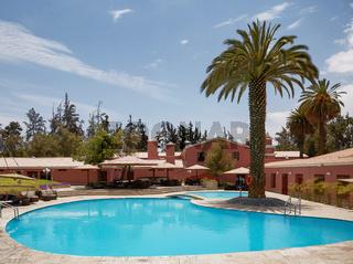 Beautiful Luxury Outdoor Swimming Pool in Hotel Resort in Arequipa, Peru