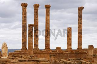 Ruinen der Flavius Tuilus Fontäne, Sabratha,Libyen