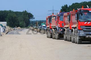 Baustellenverkehr - Straßenbaustelle