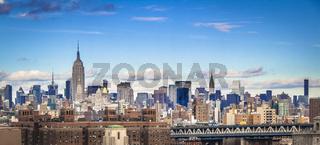 New York City, midtown Manhattan skyline.