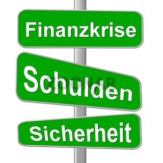 Schild Finanzkrise