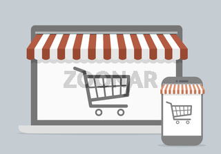 mobile shopping concept