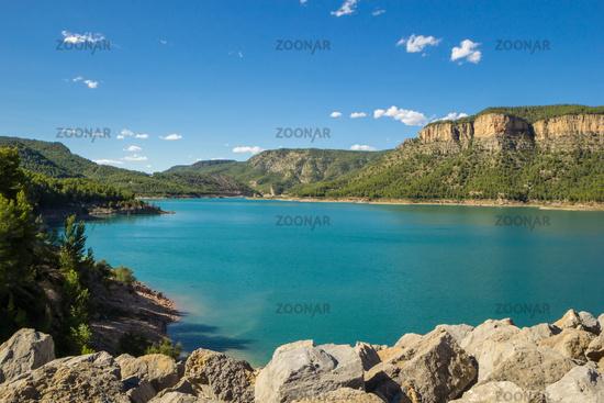 Reservoir Embalse de Arenos, Montanejos, Spain.