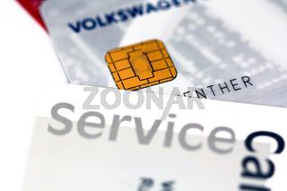Service Karten mit Chip
