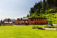 Views of the village, nature and leisure park of Lucky, Slovakia