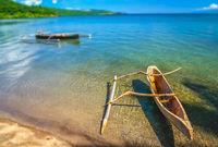 Wooden fishing pirogue from Sumbava