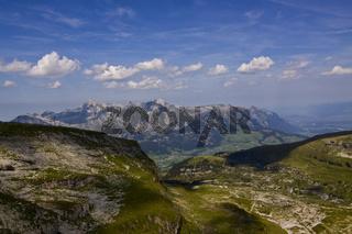 Blick vom Chäserrugg, Schweiz