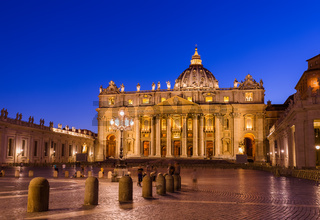 Sant Peters Basilica in Vatican - Rome Italy