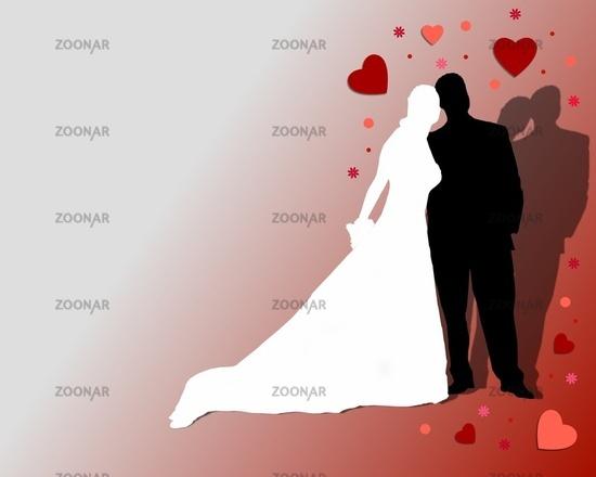 Malen brautpaar Hochzeitsbild malen: