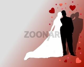 Hintergund mit Brautpaar