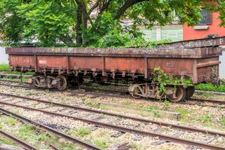 Old train wagon in Sao Joao Del Rey