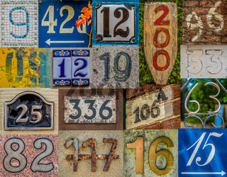 Decorative House Number Collection