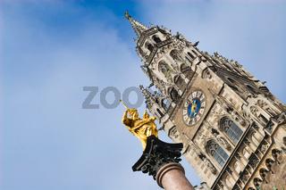 Virgin mary statue in munich