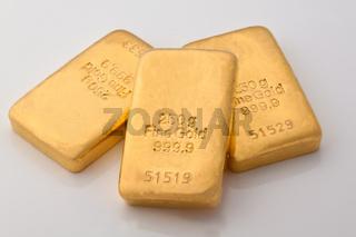 Geldanlage in  Goldbarren