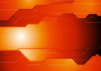 Dark orange hi-tech corporate background