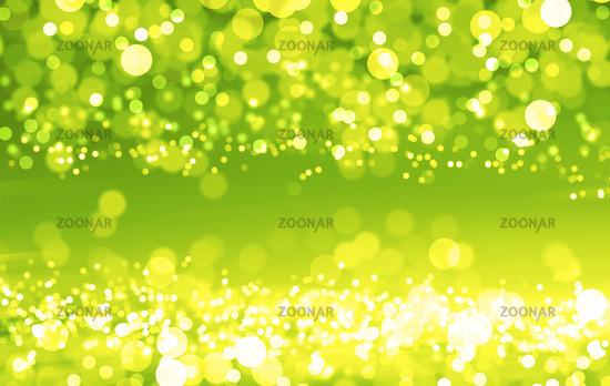 Green shiny circles