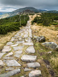 Mountain hiking trails in Krkonose or Giant Mountains