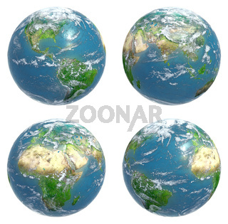 Four views of the Earth