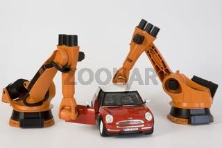 Industrieroboter in der Automobilindustrie