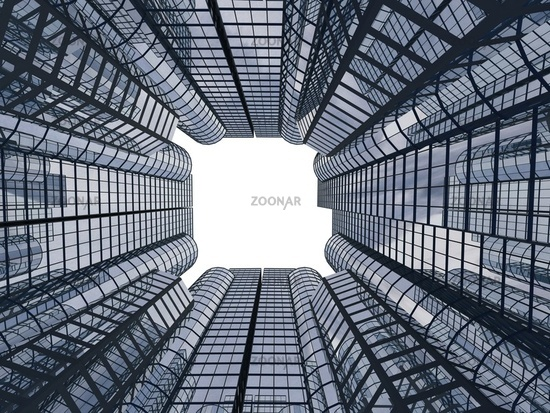 3d abstract skyscrapers for company presentation