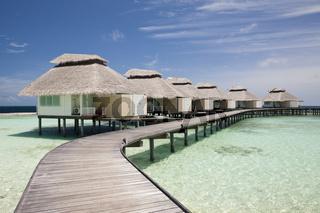 Wasserbungalow der Malediveninsel Ellaidhoo