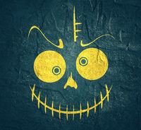 Doodle Skull with Evil Laugh