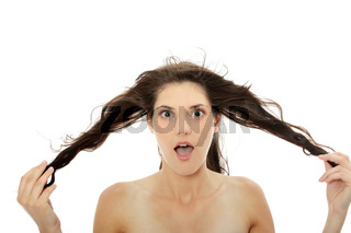 Woman and her hairs