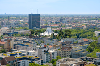 Aerial view of Berlin, Kreuzberg , Berlin skyline from above