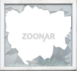 Isolated Smashed Glass