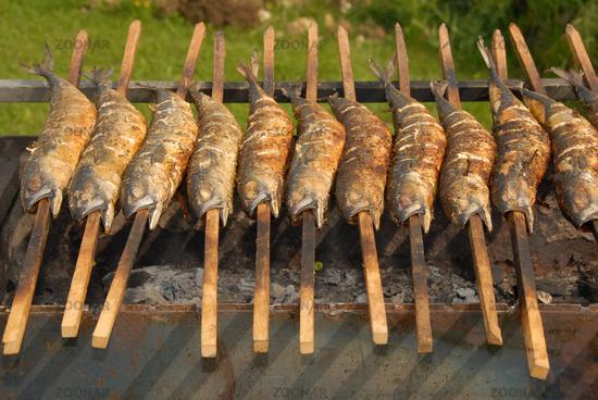 steckerlfisch am grill