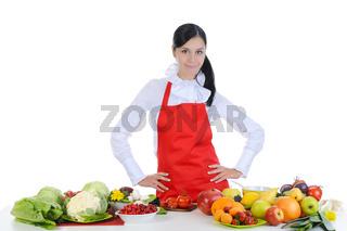 Handsome chef in uniform.