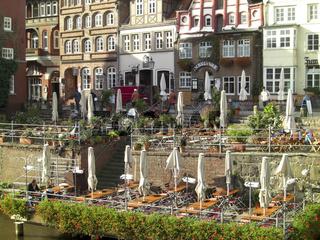 Historische Haeuser am Stintmarkt zu Lüneburg