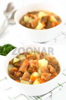 Chilean Estofado or Guiso de Cochayuyo, Bull Kelp Stew