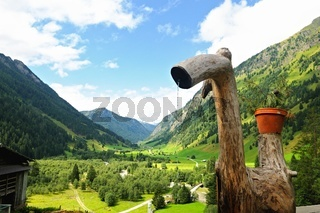 Blick auf das hintere Valsertal Tirol