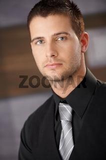 Closeup portrait of handsome businessman