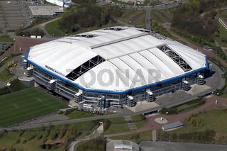 Veltins Arena Gelsenkirchen mit defekten dachmembranen