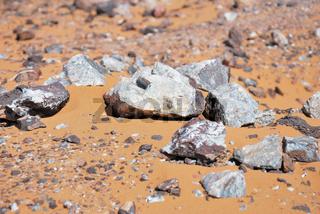Bleihaltiges Gestein, Erg Chebbi, Marokko, Afrika