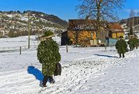 Schö-wüeschte Silvesterkläuse gehen am Alten Silvester von Haus zu Haus