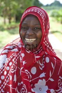 lachende muslimische Frau bei Chuini