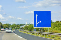 highway with empty signboard