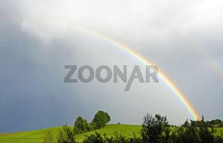 Regenbogen in der Natur