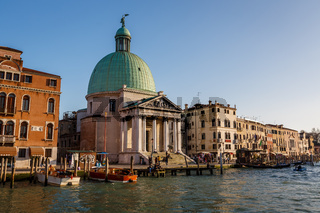 A View of the Chiesa de San Simeone Piccolo and the Grand Canal, Venice, Italy