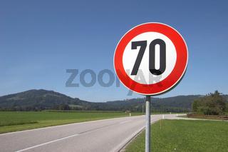 Geschwindigkeitsbegrenzung 70 kmh
